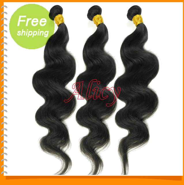 Beautiful and cheapest virgin hair free shipping 3bundles lot mixed malaysian virgin unprocessed human hair body wave weave.