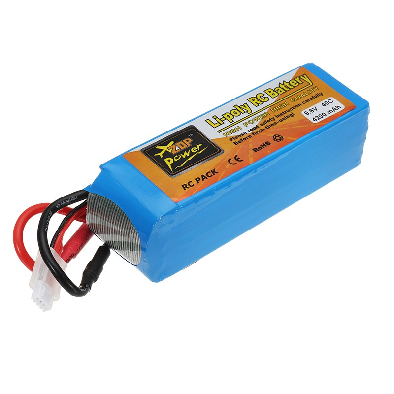 ZOP Power 9.6V 4200mAh 40C Lipo Battery 5.5mm Bullet Plug for 1/8 1/10 RC Car Toys Models Parts mos rc airplane lipo battery 3s 11 1v 5200mah 40c for quadrotor rc boat rc car