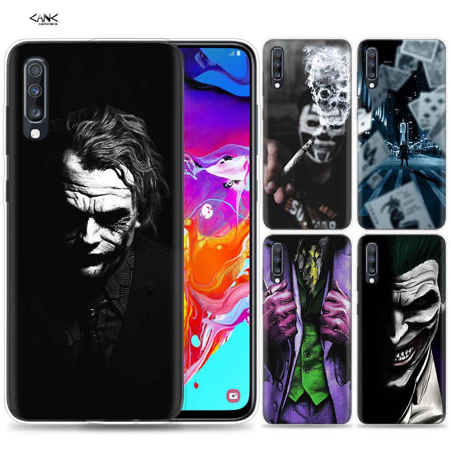 Sacs étui pour samsung Galaxy Téléphone Portable A50 A70 A30 A20 J4 J6 J8 A6 A8 M30 A7 Plus 2018 Note 8 9 Batman Joker Noir Foncé Knigh