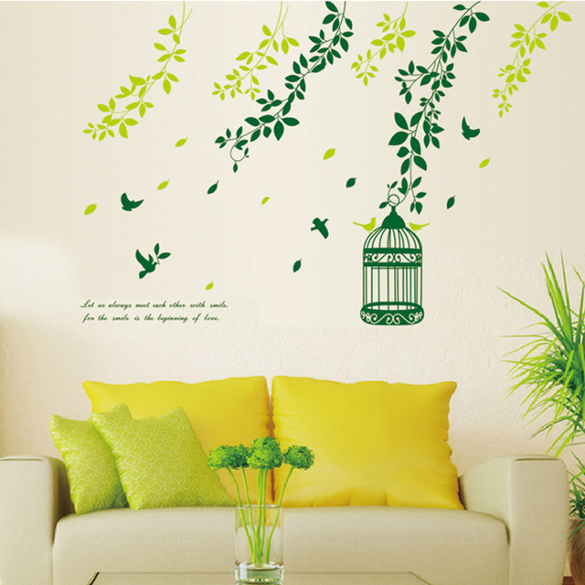 New Design PVC Creative Beautiful Scenery Branches Birdcage Home ...