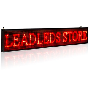 Image 2 - Smart Wireless Led Sign Android iOS Program Message Board Multi Language Display Screen 50cm Red Message 1536 LEDs