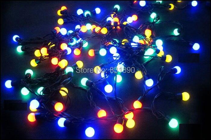 Factory Wholesale direct LED string 40led 6m110V/220V Decoration Light bulb string size Dia 18mm for hodidy Colors FreeShipping
