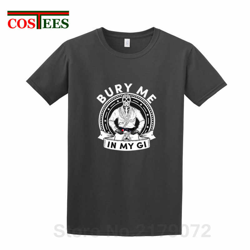 Camiseta con diseño de calavera creativa para enterrarme en mi Gi para hombre, camiseta brasileña Jiu jitsu, camiseta homme UFC MMA camiseta de hombre