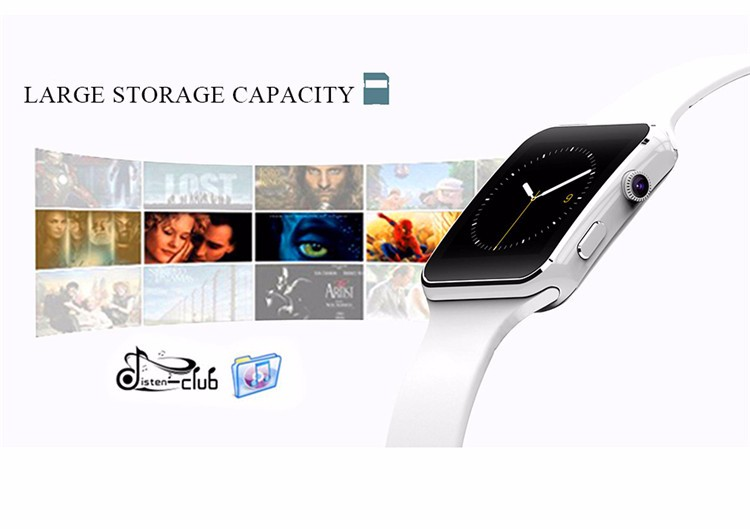Fashion Black Sport Bluetooth Smart Watch For Android IOS Phone Call SIM Card Intelligent Watches 1.54'' HD LCD OGS Touch Screen (4)