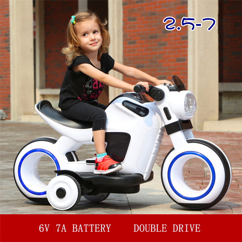 Special Price Children's electric dual drive motorcycle large tricycle boy girl aged 3-6 Can sit baby kid toy baby carriage | Happy Baby Mama