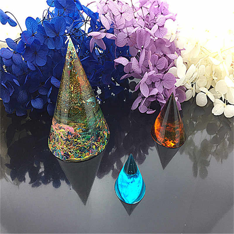 Crystal Cone Round Epoxy Mold Transparent Silicone Mold Cake DIY Decor Biscuit Fondant Bakeware Mold Cake DIY Decoration Tool