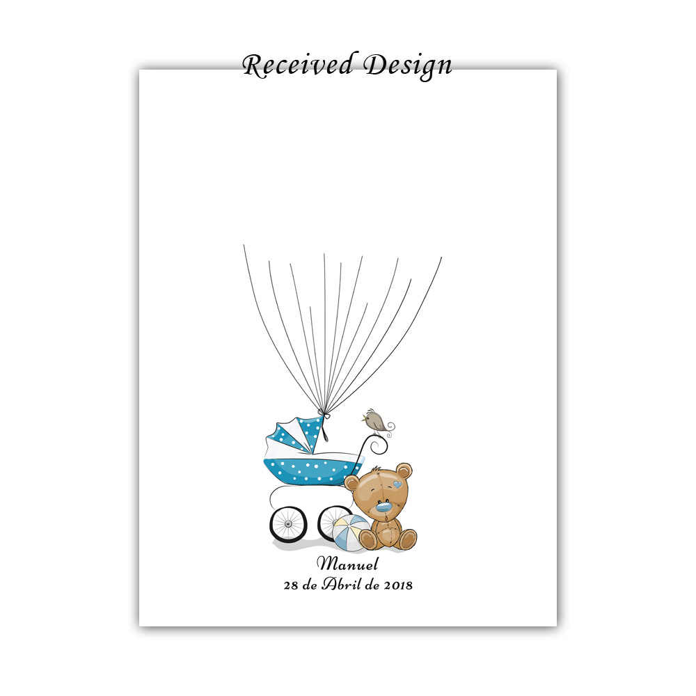 Nome Personalizado gratuitamente Data Da Impressão Digital do Carro Do Bebê DIY Assinatura Livro De Visitas Para O Bebê Chuveiro Partido Aniversário Dos Meninos Comunhão Batismo Presente
