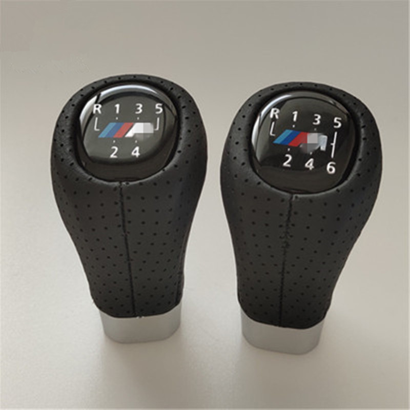 5 6 Speed PU Leather Gear Shift Knob Shifter Lever Knob Head For BMW 1 3 5 6 Series E36 E38 E39 E46 E53 E60 E61 E63 in Gear Shift Knob from Automobiles Motorcycles