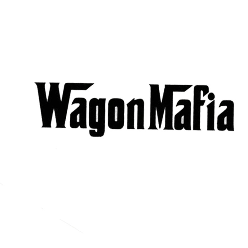 15.2*4.1CM WAGON MAFIA Car Styling Sticker Decal Cool Tough Man Style Car Stickers Accessories Black/Silver C9-0260