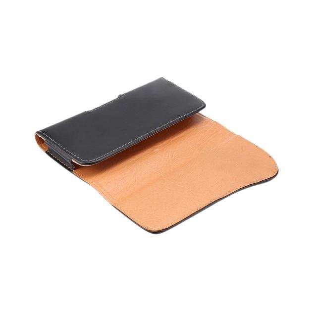 Svart läderfodral Bältesklämma för iPhone 6 5s Samsung Galaxy S6 - Reservdelar och tillbehör för mobiltelefoner - Foto 5