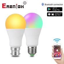 Bombilla LED inteligente E27 B22 Magic, luz decorativa sincronizada con música, RGBW, RGBWW, inalámbrica, controlada por Bluetooth, 85-265V, 15W