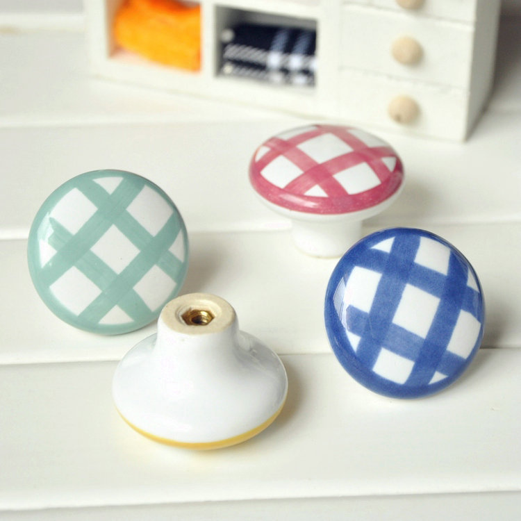 Round Ceramic Furniture Kitchen Hardware Drawer Porcelain Cabinet Knobs And  Pulls Cupboard Handles Hardware(China