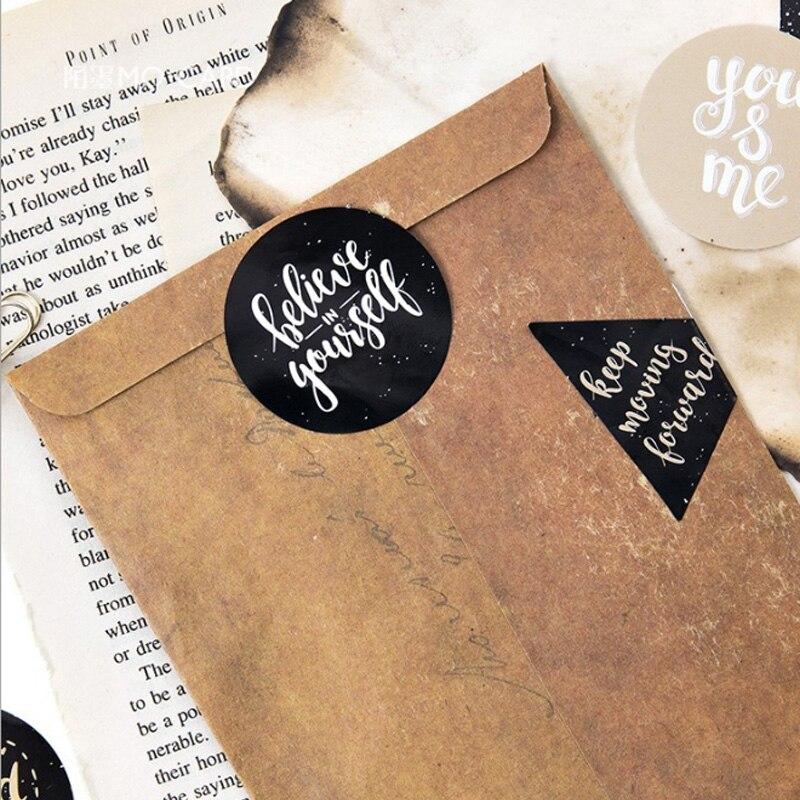 Купить с кэшбэком 45pcs/ Creative Greetings Text diy toy Calendar Album Deco sticker scrapbooking planner sticker material decoration stationery