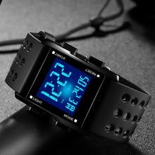 Waterproof Electronic Sport Watches For Men LED Wristwatch Casual Running Watch Digital Quartz Clock Reloj Digital 2017 Hombre