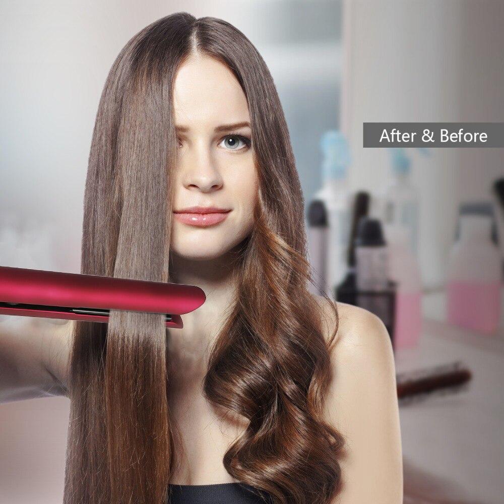 2 in 1 Tourmaline Ceramic Flat Iron Professional Hair Straightener Hair Curler Straightener dual use