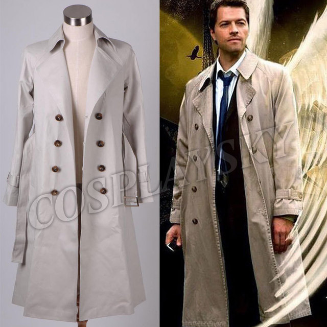 Supernatural Castiel Twill Trench Coat Costume  sc 1 st  AliExpress.com : trench coat costume  - Germanpascual.Com