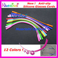 12 pcs  L608  silicone anti-slip glasses cords for sports Supper Elasticity! Outstanding Fixed Effects!  glasses chain