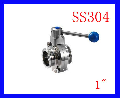 Hot  1 SS304 stainless steel TC manual butterfly valve,Tri-clamp butterfly valve, Sanitary butterfly valve hot sale weld sampling valve dn19 sanitary sampling valve stainless steel valve