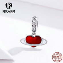 Bracelets Planet Love-Beads BISAER Charms-Fit 925-Jewelry 925-Sterling-Silver Heart Enamel