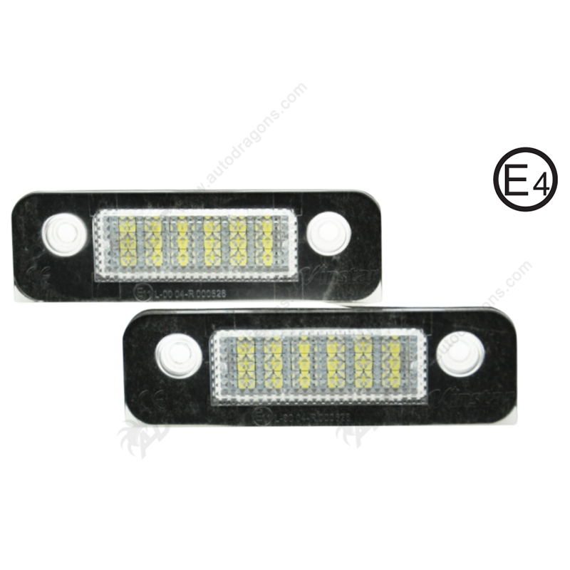 2 Pair Super White 6000K canbus error free SMD chip Car LED License Plate Light auto Lamp number for Ford Mondeo MK II 96-00 car led license plate lights 12v for ford mondeo mk2 fiesta fusion accessories no error white smd led number plate lamp bulb kit