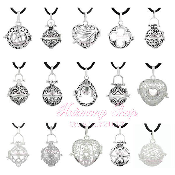 1PC Harmony Bola Locket Cage Pendant Mix Wholesale For 18mm Angel Caller Locket Pendant Pregnancy Gift Antique Bola Bell Jewelry