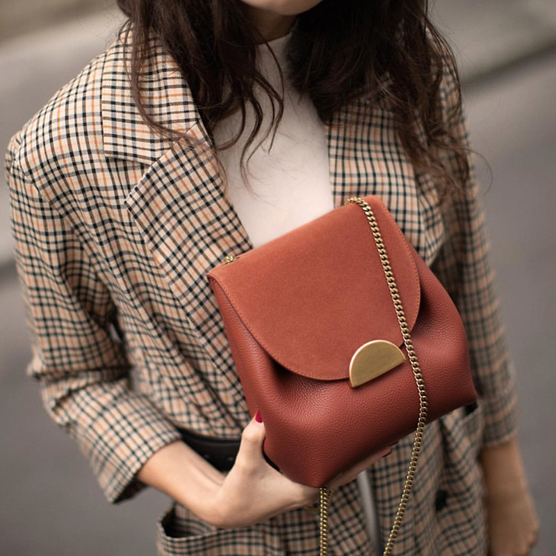 Luxury Designer Women Bucket Bag Small Chain Crossbody Bags Luxury Pu Leather Shoulder Bag France Style Over Shoulder Purse 2019