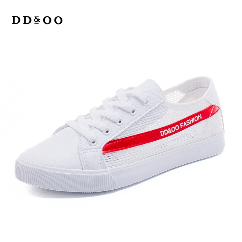2018 summer new fashion women shoes casual flats air mesh soft solid color simple women casual white shoes sneakers