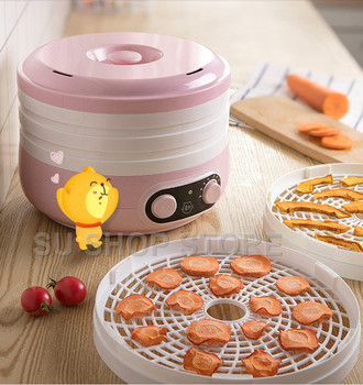 Dried Fruit Vegetables Herb Meat Machine Household MINI Food Dehydrator Pet Meat Dehydrated 5 trays Snacks Air Dryer household dried fruit machine fruit and vegetable dehydration machine food dryer pet meat food air dryers