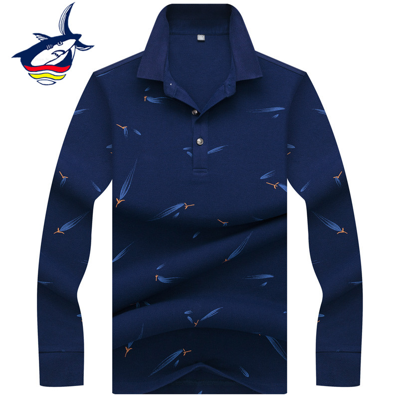 Smart casual long sleeve   polo   shirt men 2019 men's   polo   homme business camisa   polo   masculina aeronautica militare style men