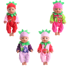 2018 New Doll Clothes Set Fruit Pattern for 18-inch American  or 43 cm