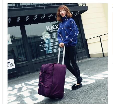Travel Trolley Bag wheeled Bag Women Rolling Baggage Oxford Trolley bags Business Travel luggage bag For men suitcase on wheels недорго, оригинальная цена