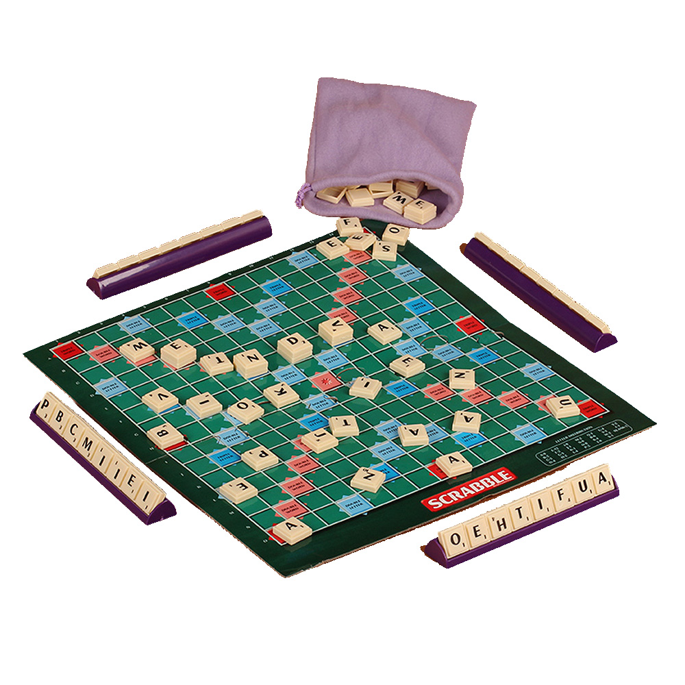 English French Version Puzzles Board Spelling Scrabble Board Game Crossword Spelling Game For Kids Puzzles Board Table Jigsaw