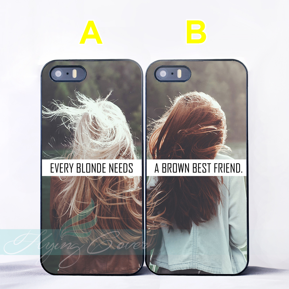 Coque Blonde Brown Best Friend Couple Capa Cases for iPhone X 8 Plus 7 6 6S 7 Plus SE 5S 5C 5 4S 4 Case for iPod Touch 6 5 Cover