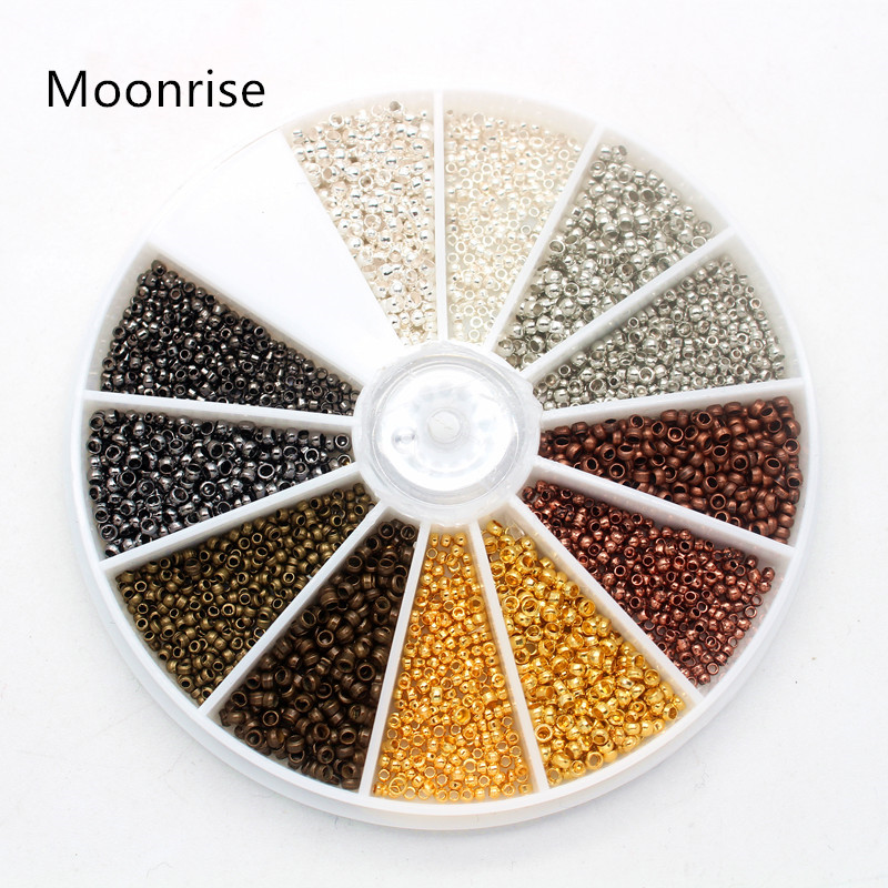 3000Pcs 1.5mm 2.0mm Mixed Brass Crimp End Beads Metal Beads Smooth Ball End Caps For DIY Jewelry Making|Jewelry Findings & Components| |  - AliExpress
