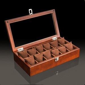 Image 4 - Caixa organizadora de madeira para relógio, caixa de madeira para organizar joias