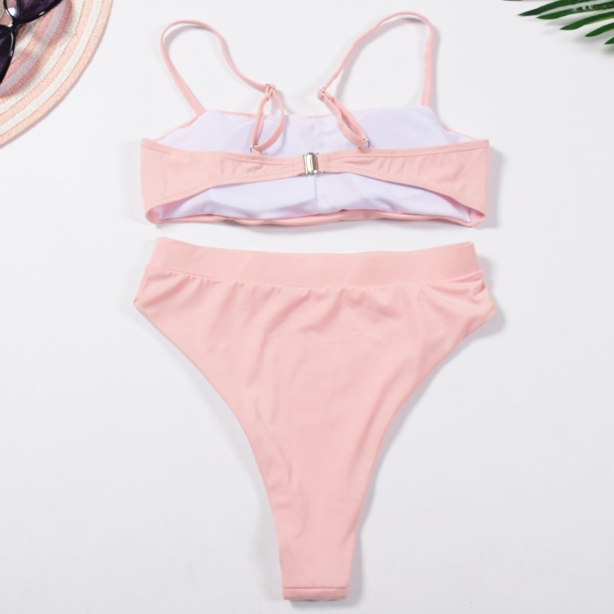 HTB1RiJ2SAvoK1RjSZFwq6AiCFXaY Micro Bikini Women Bandage Swimwear Swimsuit Bathing Suit Solid Bikini Push Up Beach Wear Maillot De Bain Brazilian Bikini