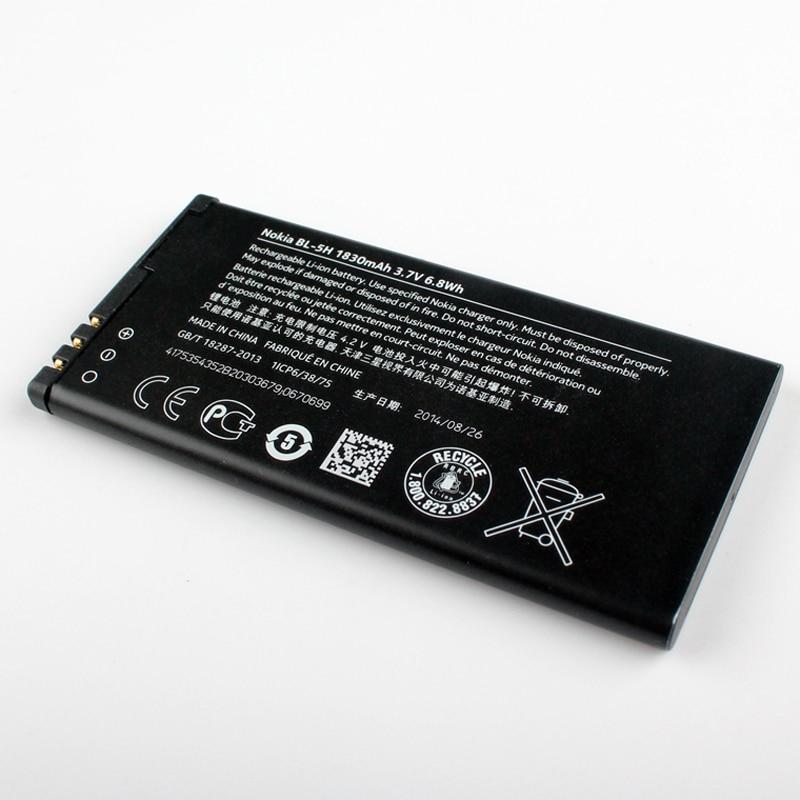 Original Nokia BL-5H phone battery for Nokia Lumia 630 38 635 636 Lumia630 RM-977 RM-978 RM-977 1830mAh