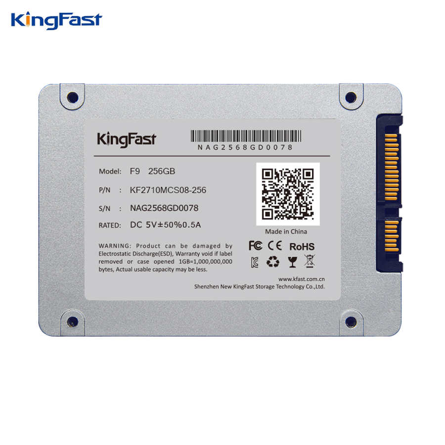 Kingfast F9 brand 7mm ultra-thin 2.5 256GB SSD/HDD SATAIII internal Solid State hard disk with cache for laptop&desktop/server ultra thin 7 touch screen lcd wince 6 0 gps navigator w fm internal 4gb america map light blue