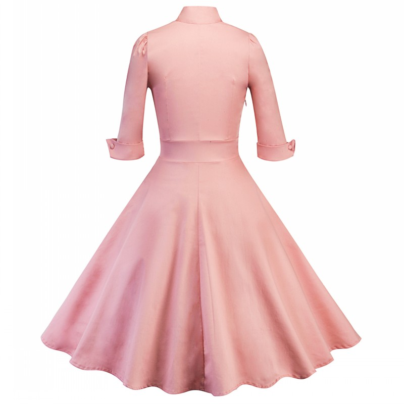 9057296017_274015360_conew1  2018 Ladies Clothes Pin UP Vestidos Spring Autumn Retro Informal Celebration Gown Rockabilly Gown 50s 60s Classic Midi Attire HTB1RiJGAhGYBuNjy0Fnq6x5lpXax