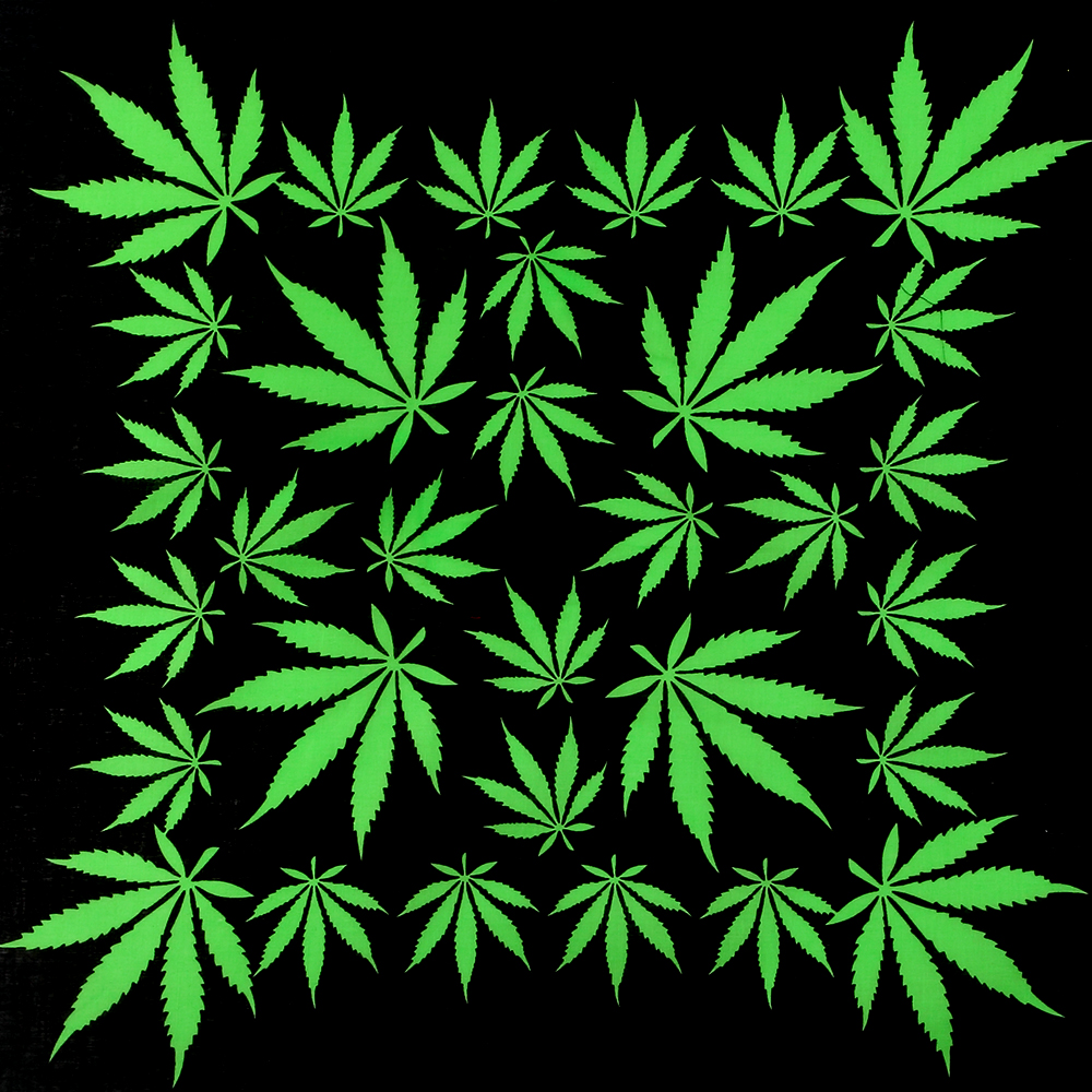 HUOBAO Hip Hop Square Scarf Reggae Jamaica Green Weed Maple Leaf Bandana   Headwear   Scarf Printed For Women/Men
