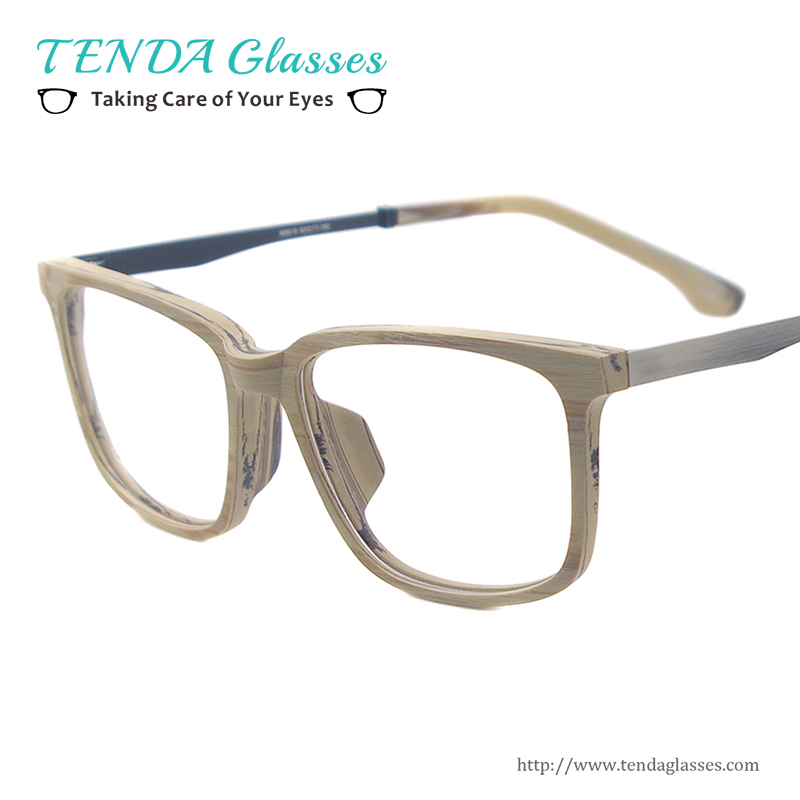 square acetate glasses frames acetate wooden texture