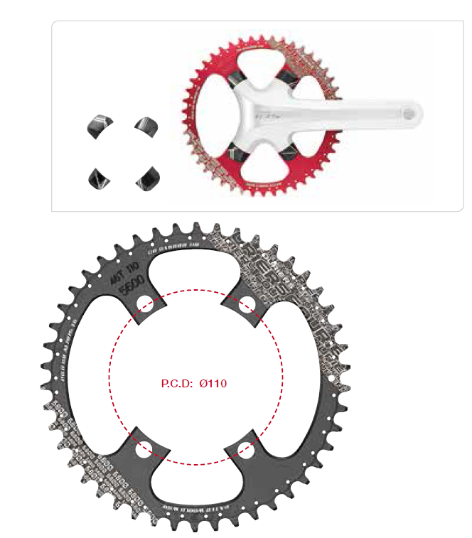FOURIERS CR-DX5800 AL7075-T651 Full CNC Freewheel Cassette chainring 46/48T For SHIMAN0 105 /5800 7075t6 cnc mtb chain ring 110pcd 40 42 44 46 48t mtb bike bicycle crank chainring tooth disc chain ring cr e1 dx5800 110