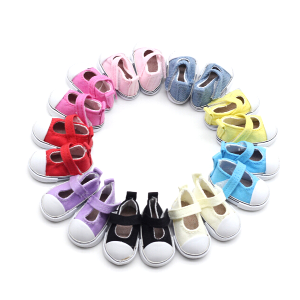 5cm Casual Canvas Shoes Doll Boots Mini Toy Shoes 1 6 for BJD Doll Shoes for