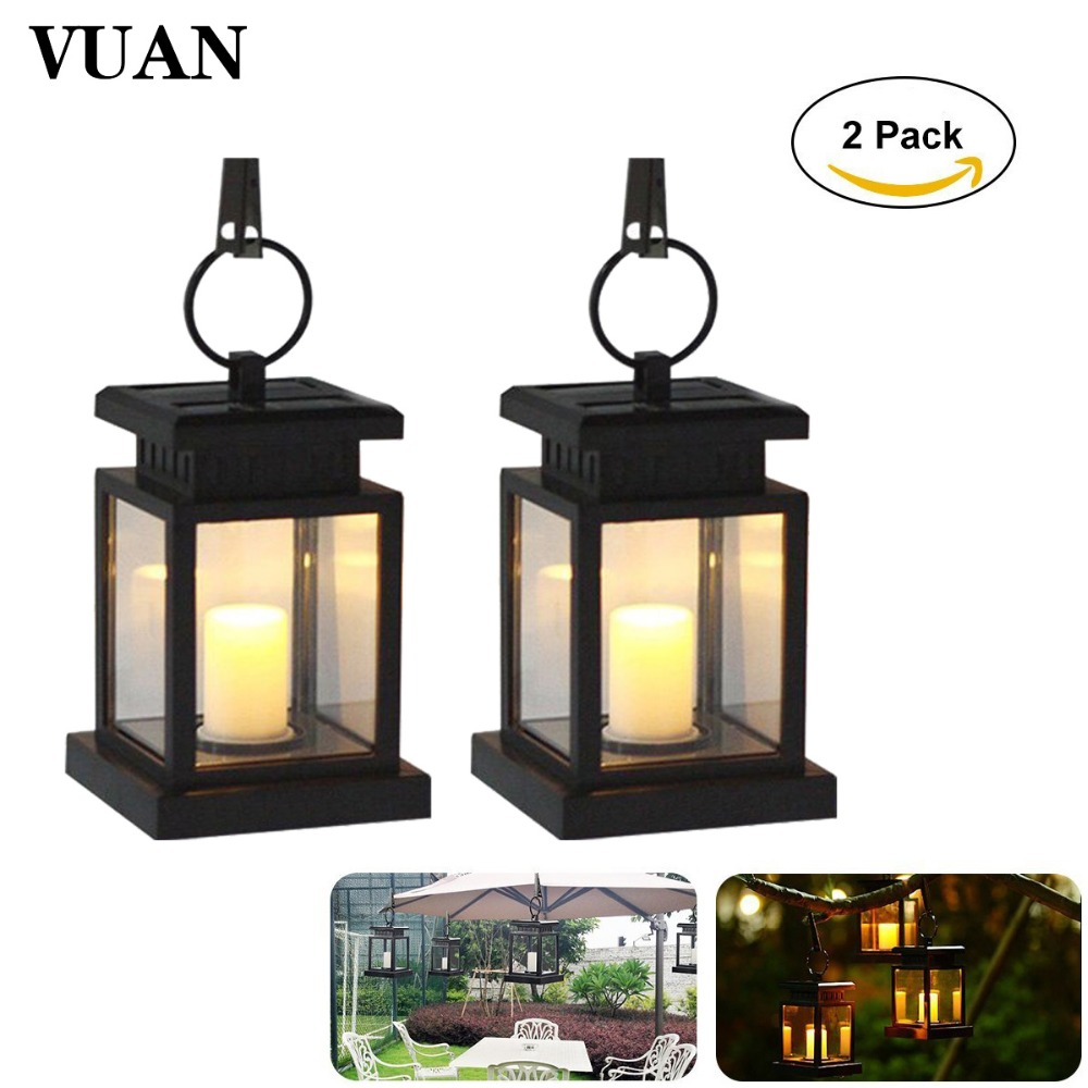 2PCS/lot Led Solar Light Outdoor Waterproof Solar Panel Portable Solar Led Hanging LED Umbrella Lantern Garden Light Warm White one light frosted glass antique rust hanging lantern
