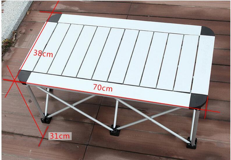 Table pliante en alliage d'aluminium 70*38*31 CM Table de Camping en plein air Portable Table de Barbecue Table de pique-nique bureau