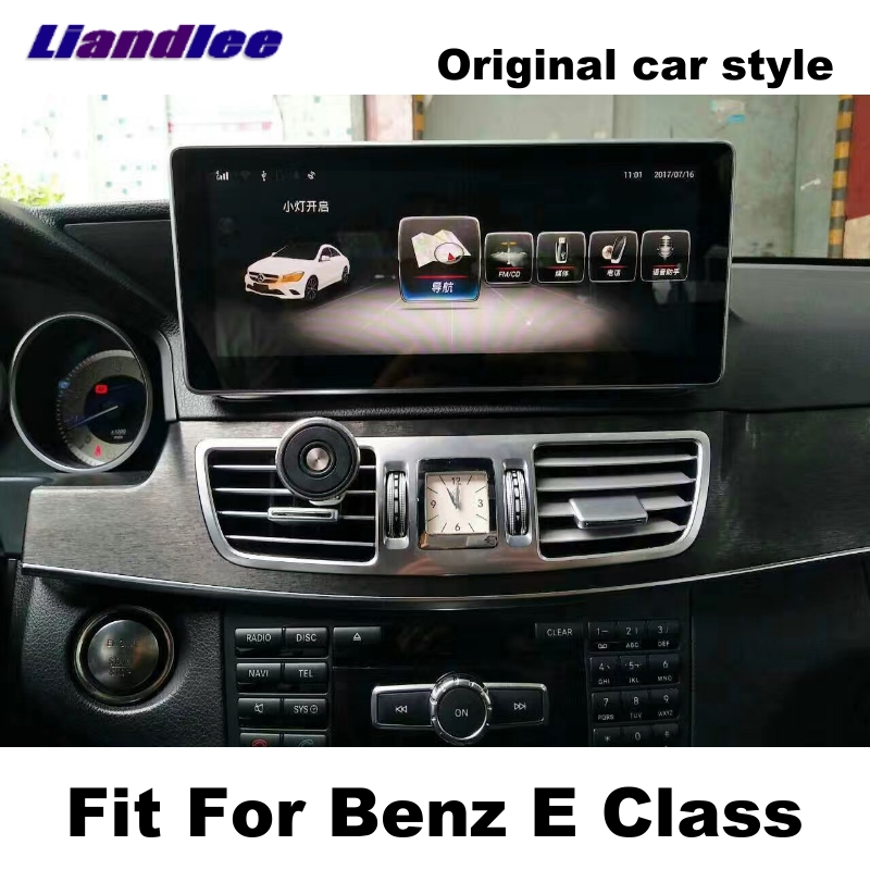 Liandlee Car Multimedia Player NAVI Per Mercedes Benz MB Classe E W212 2009 ~ 2016 sistema Originale dell'automobile Radio Stereo Navigazione GPS
