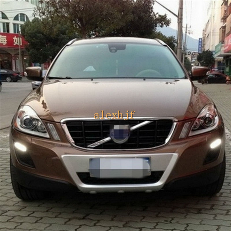 Yeats LED Daytime Running Lights DRL LED Front Bumper Fog Lamp Case for VOLVO XC60 2009~2013 1:1 Replacement, Free shipping yeats led daytime running lights drl led fog lamp case for subaru forester 2013 16 deluxe edition 1 1 replacement fast shipping