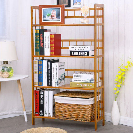 Bookcases Living Room Furniture Home Bamboo Bookshelf Minimalist Modern Quality Display Book Stand Rack Wholesale New