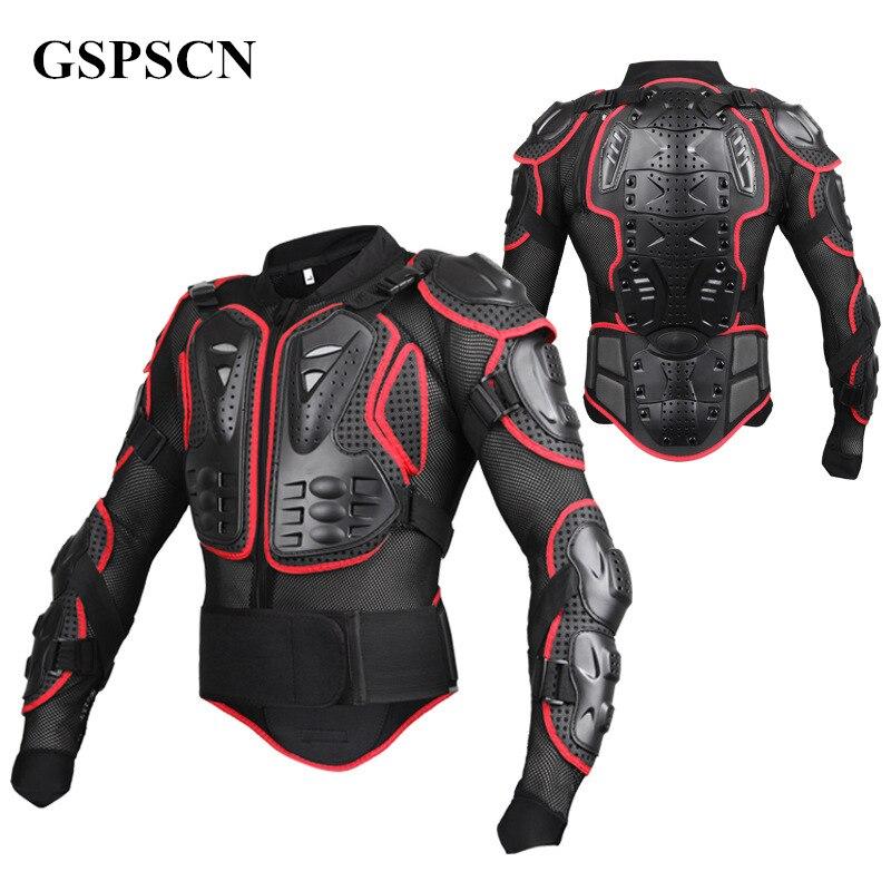 GSPSCN Moto armure corporelle complète Motocross veste colonne vertébrale poitrine protection gear Motocross Motos protecteur Moto Moto veste
