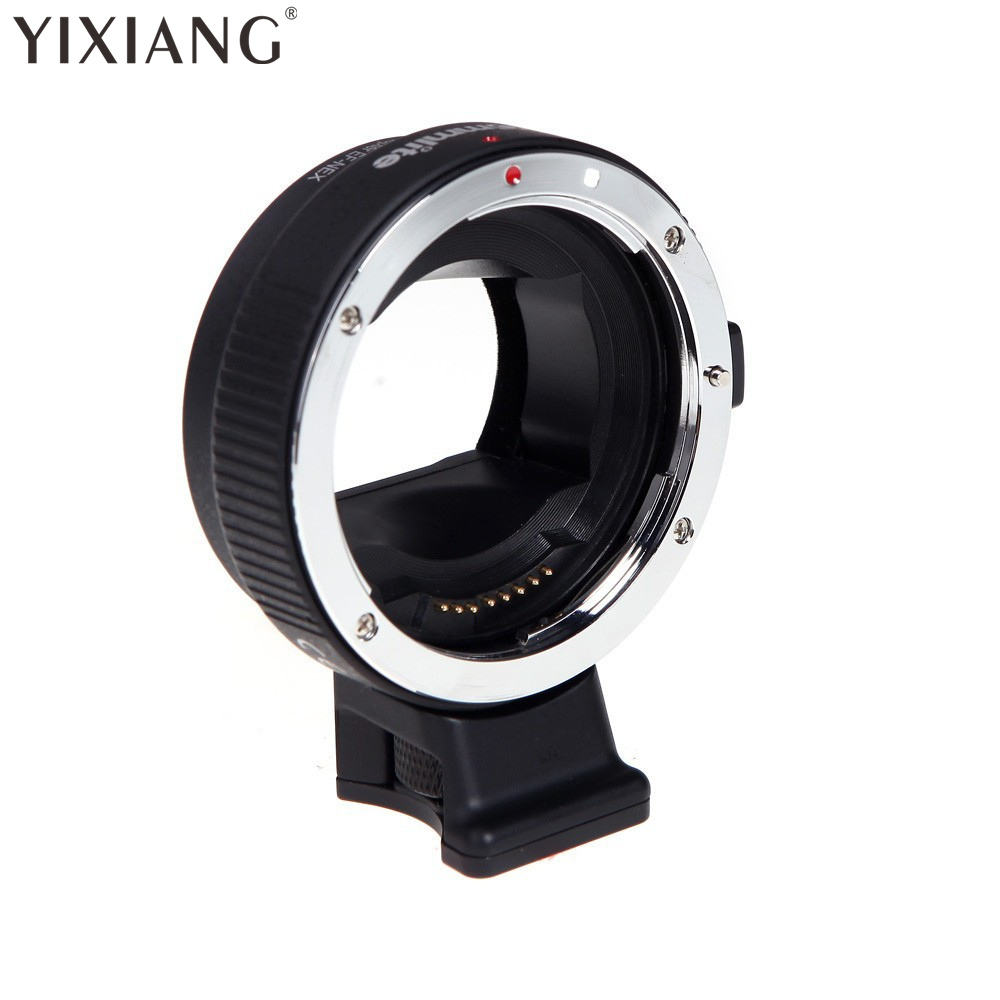 YIXIANG Auto-focus Mount Adapter EF-NEX for Canon EF/EF-S Lens to Sony NEX with IS Exact Exposure Drop shipping viltrox ef nex iii auto focus adapter for canon eos ef ef s lens to for sony e nex a7 a7r a7sii a7ii a6300 a6000 full frame